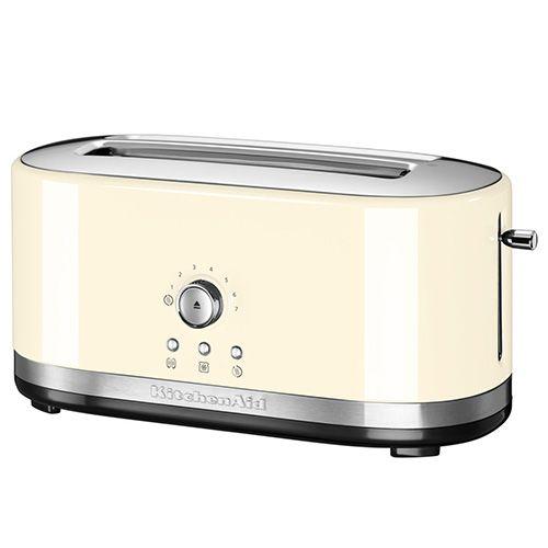 KitchenAid Almond Cream Manual Control Long Slot Toaster