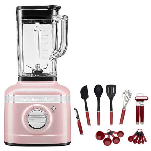 KitchenAid Artisan Silk Pink K400 Blender with FREE Gift