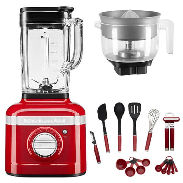 KitchenAid Artisan Candy Apple K400 Blender with Citrus Press and FREE Gift