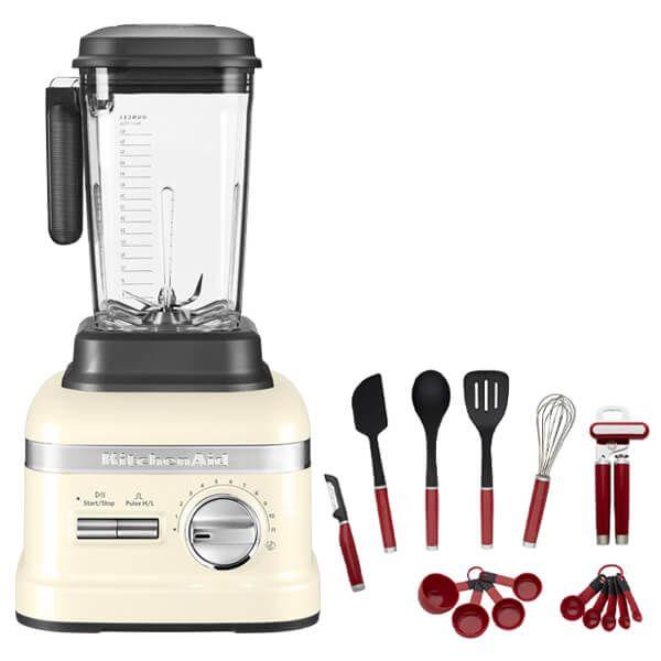 KitchenAid Artisan Almond Cream Power Blender with FREE Gift