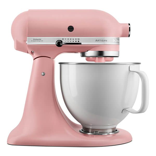 KitchenAid Limited Edition Artisan Mixer 156 Dried Rose With White Bowl