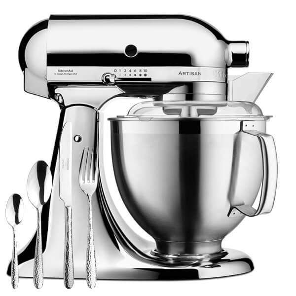 KitchenAid Artisan Mixer 185 Chrome With FREE Gift