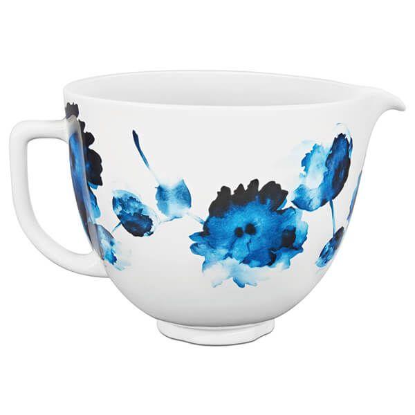 KitchenAid Ceramic 4.8L Mixer Bowl Ink Watercolour