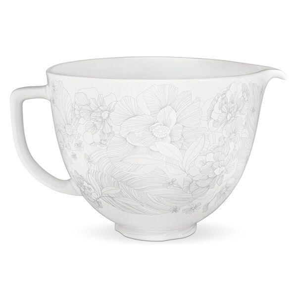 KitchenAid Ceramic 4.8L Mixer Bowl Whisper Floral
