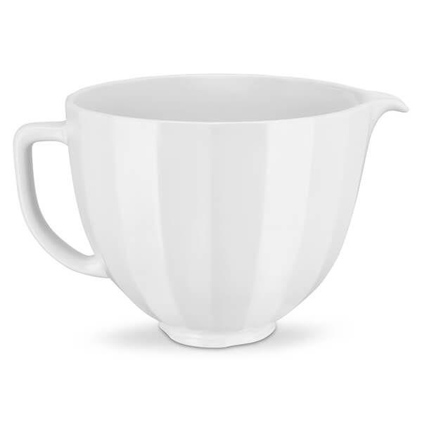 KitchenAid Ceramic 4.8L Bowl White Shell
