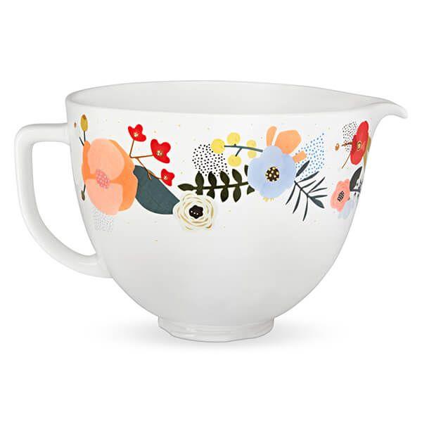 KitchenAid Ceramic 4.8L Mixer Bowl Scandi Floral
