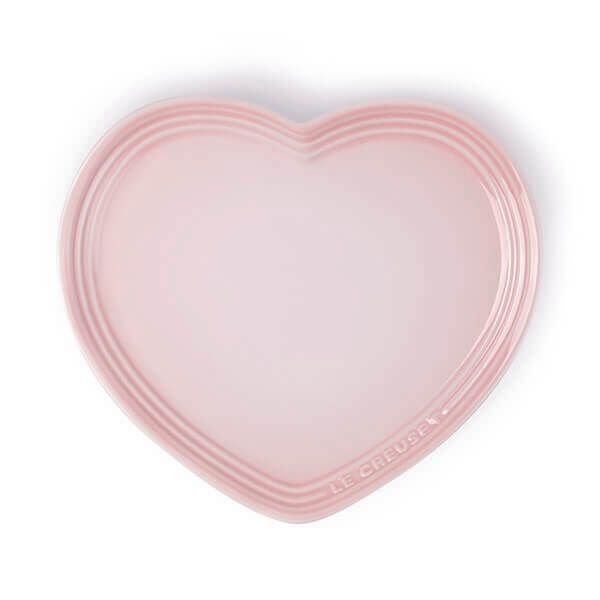 Le Creuset Shell Pink Stoneware Heart Plate