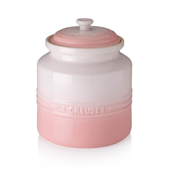 Le Creuset Shell Pink Stoneware Biscuit Jar