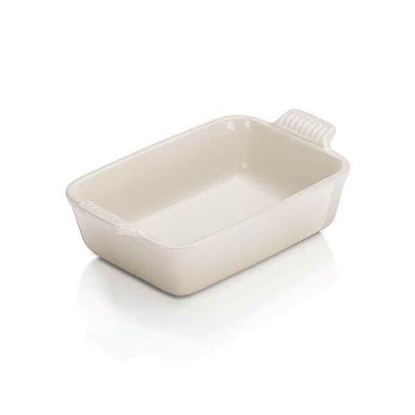 Le Creuset Meringue Stoneware 19cm Deep Rectangular Dish