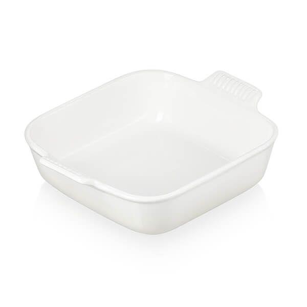 Le Creuset Meringue Stoneware 23cm Square Heritage Dish