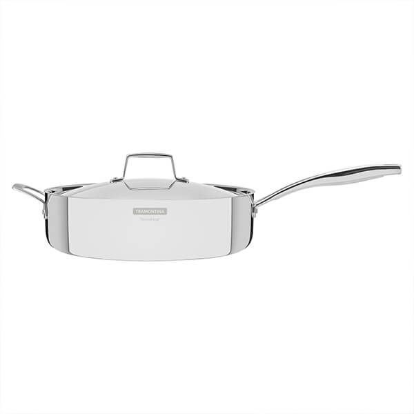 Tramontina Grano 30cm 3-ply Stainless Steel Deep Saute Pan with Lid