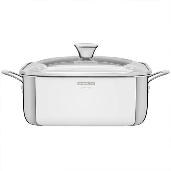 Tramontina Grano 3-ply Stainless Steel Square Roasting Pot with Lid