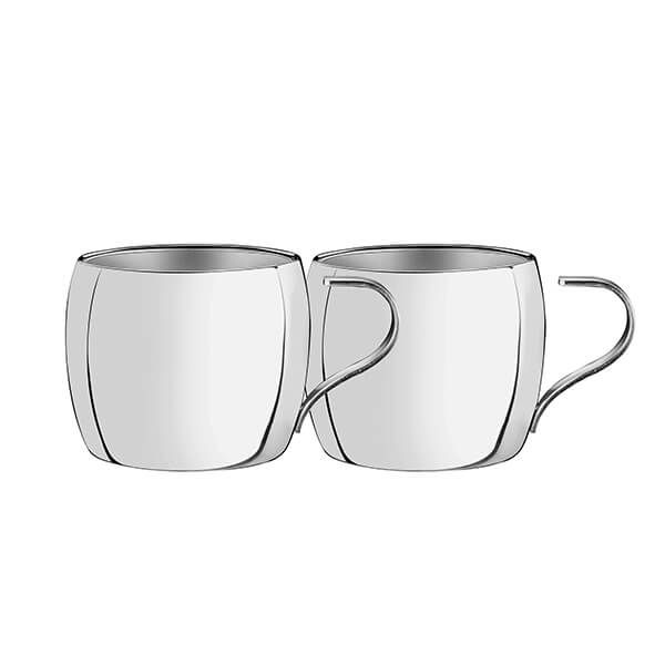 Tramontina Double Walled Espresso Stainless Steel Cups Pack Of 2