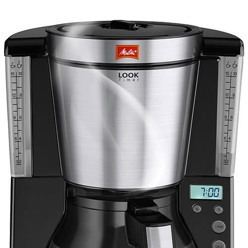 Melitta Look Therm Timer Black Filter Coffee Machine 1011 16
