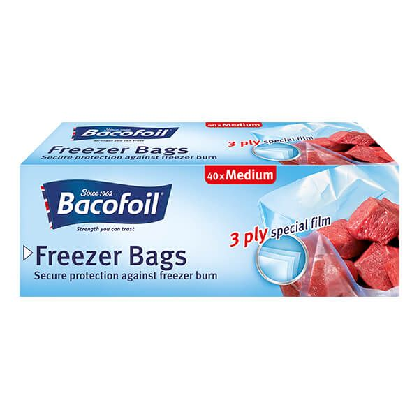 Bacofoil 40 x Medium Freezer Bags