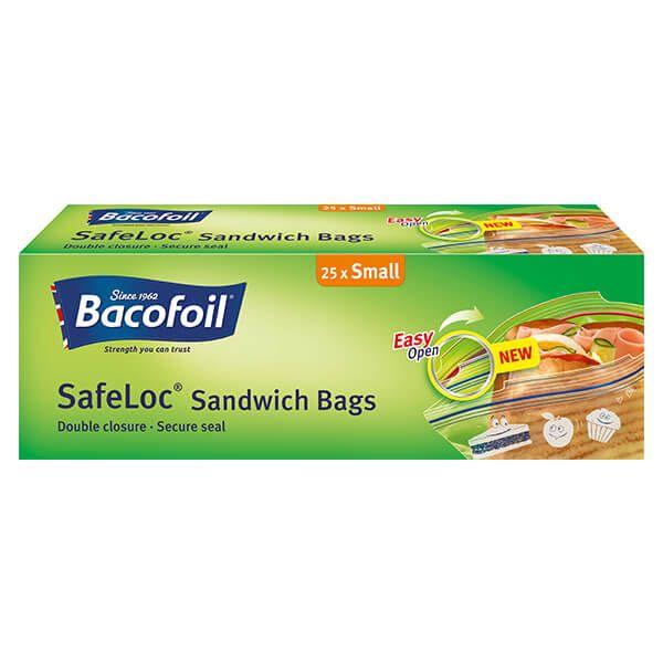 Bacofoil 25 x 1L Safeloc Sandwich Bags