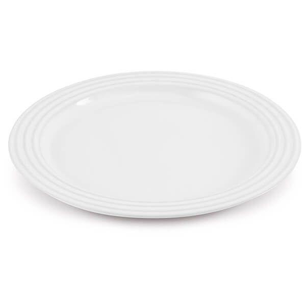 Le Creuset White Stoneware 27cm Dinner Plate