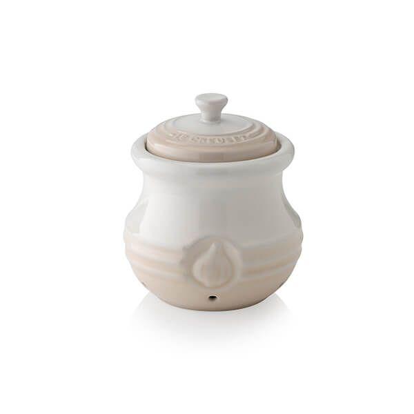 Le Creuset Meringue Stoneware Garlic Keeper