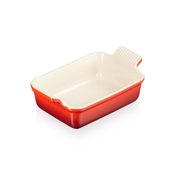 Le Creuset Cerise Stoneware Small 19cm Heritage Rectangular Dish