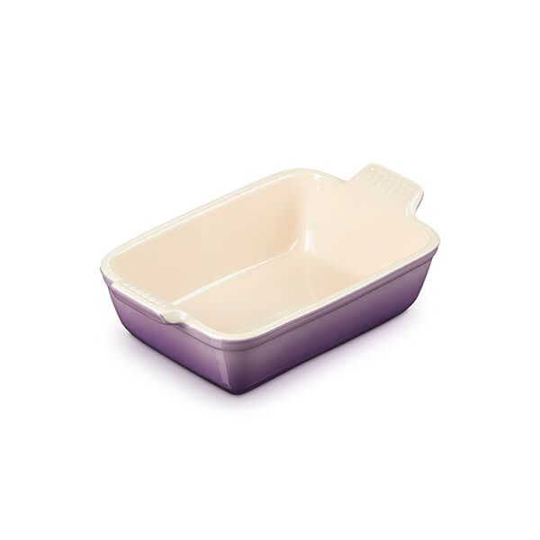 Le Creuset Ultra Violet Stoneware Small 19cm Heritage Rectangular Dish