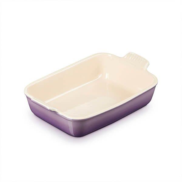 Le Creuset Ultra Violet Stoneware Medium 26cm Heritage Rectangular Dish