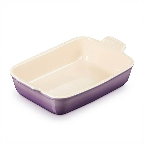 Le Creuset Ultra Violet Stoneware Large 32cm Heritage Rectangular Dish
