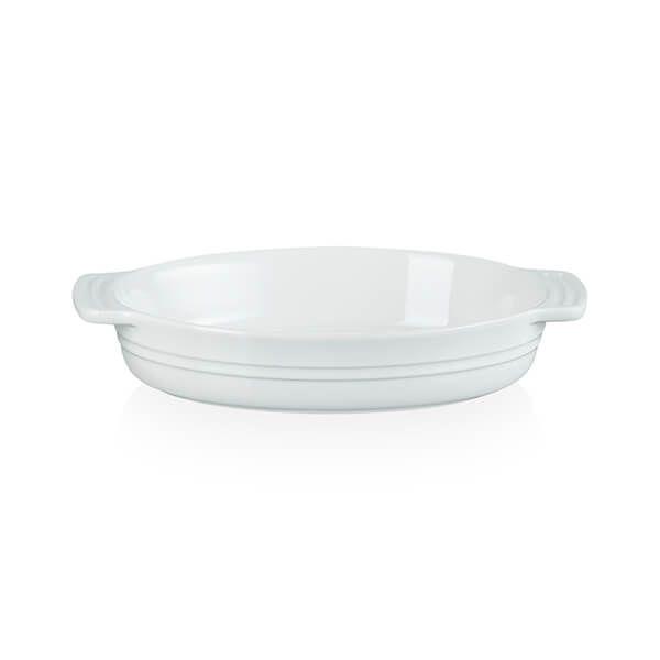 Le Creuset White Stoneware Classic 24cm Oval Dish