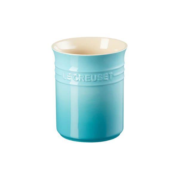 Le Creuset Teal Stoneware Small Utensil Pot