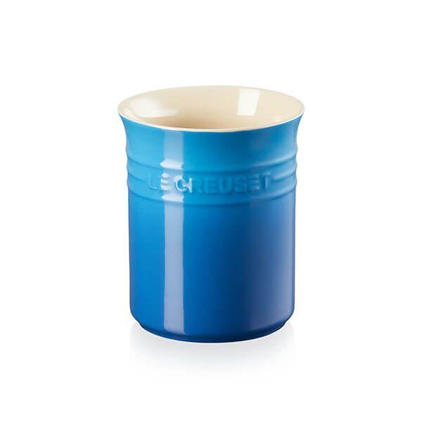 Le Creuset Marseille Blue Stoneware Small Utensil Pot