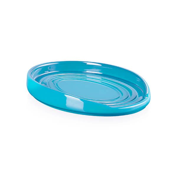 Le Creuset Turquoise Stoneware Oval Spoon Rest
