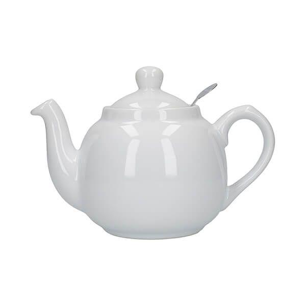 London Pottery Farmhouse Filter 2 Cup Teapot White