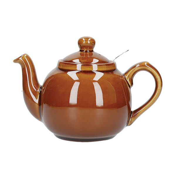 London Pottery Farmhouse Filter 2 Cup Teapot Rockingham Brown