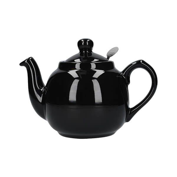 London Pottery Farmhouse Filter 2 Cup Teapot Gloss Black