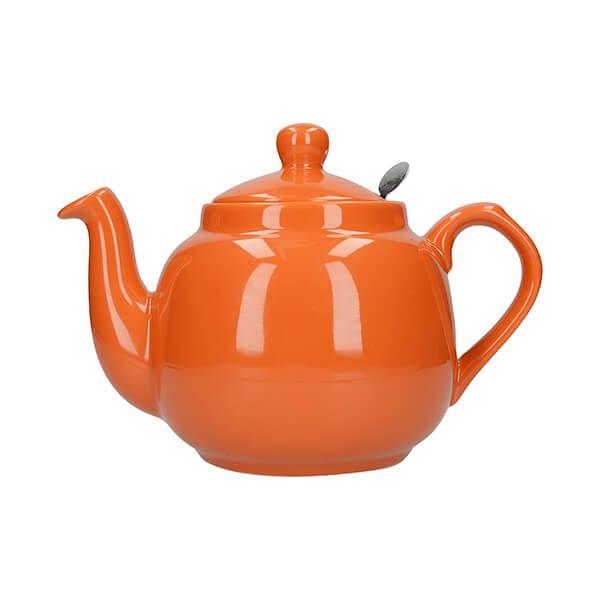London Pottery Farmhouse Filter 2 Cup Teapot Orange
