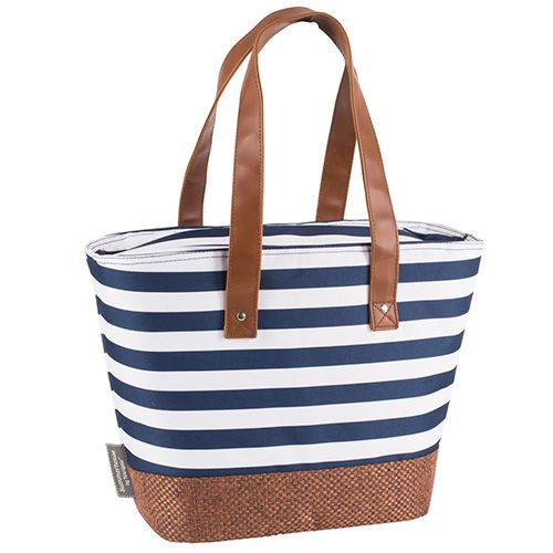 Navigate Coast Insulated Shoulder Tote Navy And White