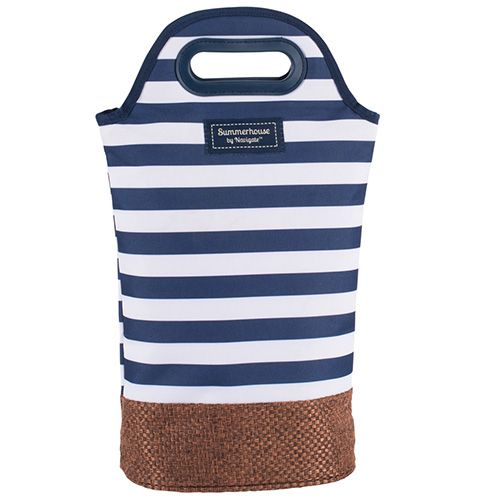 Navigate Coast Twin Bottle Carrier Navy And White