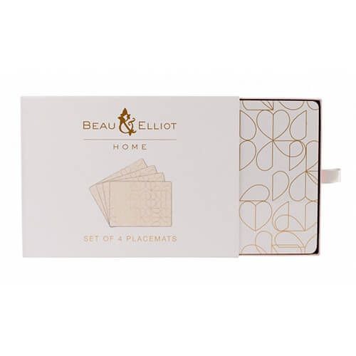 Beau & Elliot Champagne Edit Oyster Set of 4 Placemats