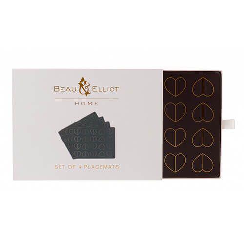 Beau & Elliot Champagne Edit Dove Set of 4 Placemats
