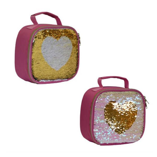 My Little Lunch Sequin Lunch Bag Heart