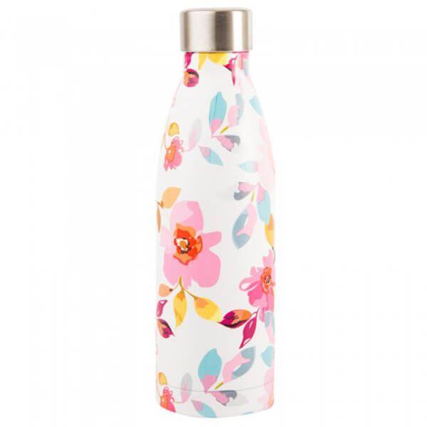 Navigate Gardenia 500ml Stainless Steel Vacuum Drinks Bottle White Floral