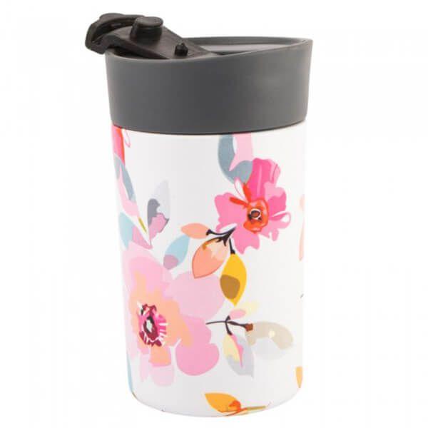 Navigate Gardenia 300ml Travel Mug White Floral