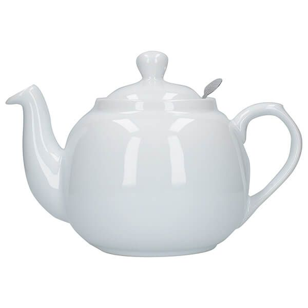 London Pottery Farmhouse Filter 6 Cup Teapot White