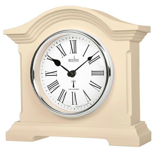 Acctim Chestfield Mantel Clock Cream