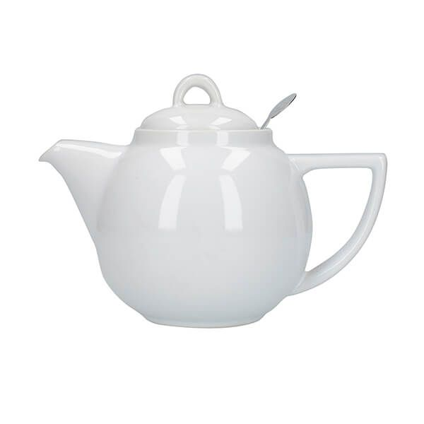 London Pottery Geo Filter 2 Cup Teapot White