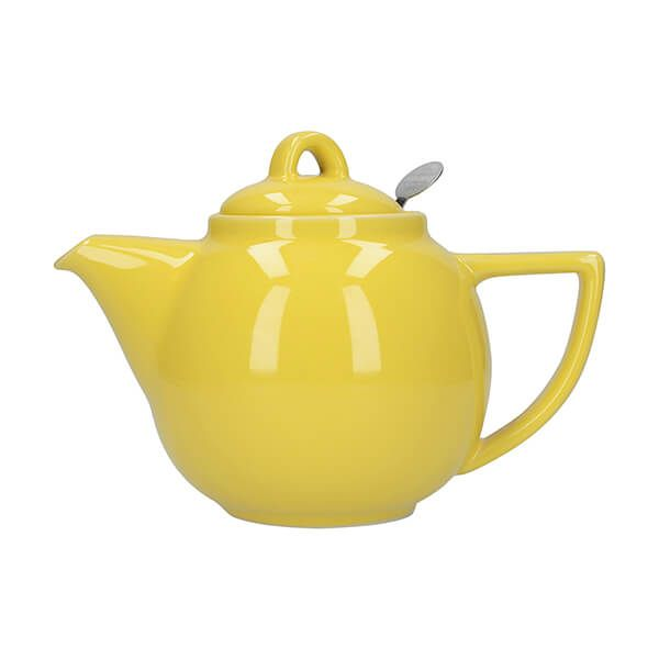 London Pottery Geo Filter 2 Cup Teapot Lemon