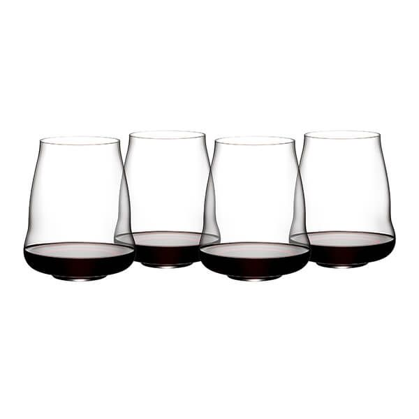 Riedel Stemless Wings 265 Year Anniversary Pinot Noir Wine Glass Set Of 4