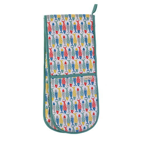 Seasalt Schooling Fish Double Oven Glove