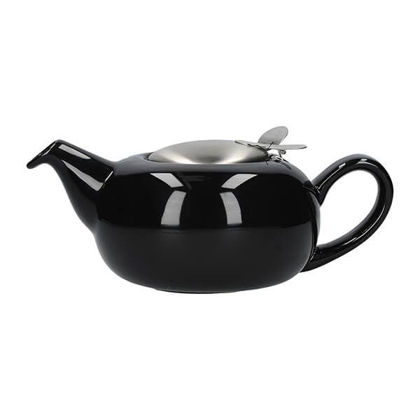 London Pottery Pebble Filter 2 Cup Teapot Gloss Black
