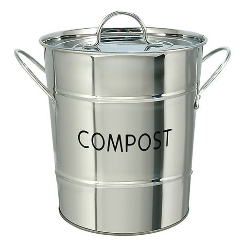 Eddingtons Compost Pail / Bin Stainless Steel