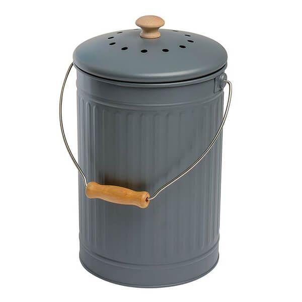 Eddingtons 7 Litre Compost Pail / Bin Charcoal